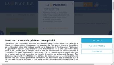 Site internet de La Procure Paul Largeron