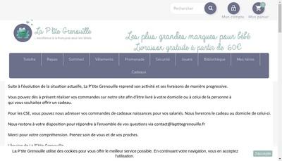 Site internet de La Ptite Grenouille