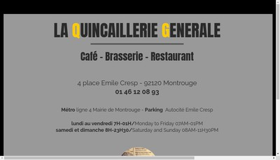 Site internet de La Quincaillerie Generale