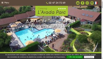 Site internet de SARL l'Arada Parc