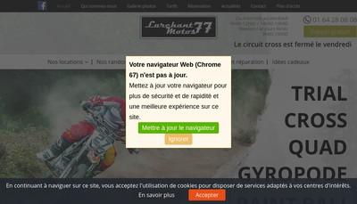 Site internet de Larchant Motos 77 (LM 77)