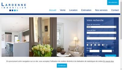 Site internet de Lardenne Immobilier