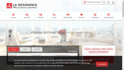 Site internet de La Residence