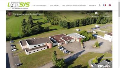 Site internet de Larisys Industries