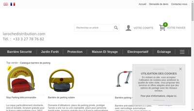 Site internet de Laroche Disribution