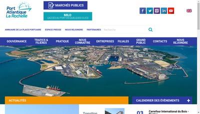 Site internet de Port Atlantique la Rochelle Palr