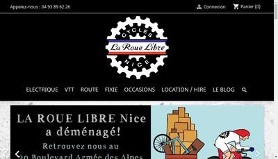 Site internet de La Roue Libre Cagnes