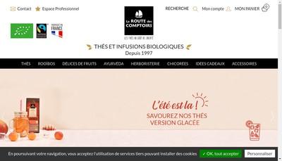 Site internet de La Route des Comptoirs - Reponse Marketing