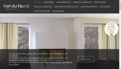Site internet de L'Art du Feu