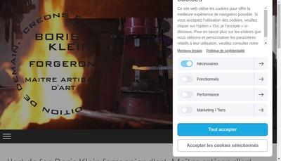 Site internet de L'Art de Fer