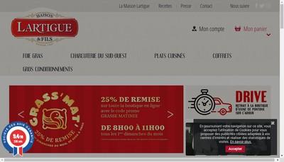 Site internet de Lartigue et Fils