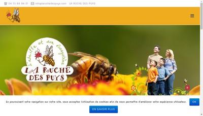 Site internet de La Ruche des Puys