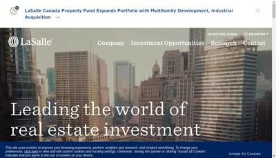 Site internet de Lasalle Investment Management