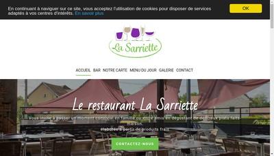 Site internet de La Sarriette