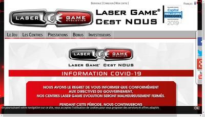 Site internet de Laser Game