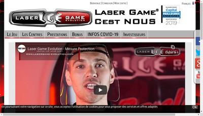 Site internet de Laser Game Evolution
