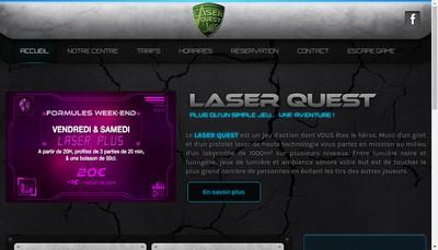 Site internet de Laser Quest