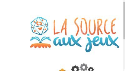 Site internet de La Source aux Jeux
