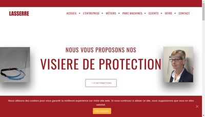 Site internet de Atelier de Mecanique Jean Lasserre