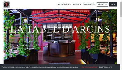 Site internet de La Table d'Arcins