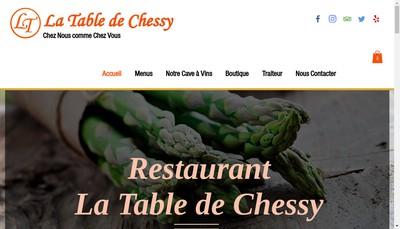 Site internet de La Table de Chessy