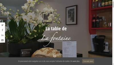 Site internet de La Table de la Fontaine