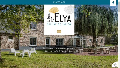 Site internet de La Table d'Elya