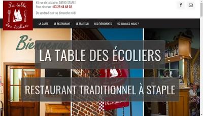 Site internet de La Table des Ecoliers