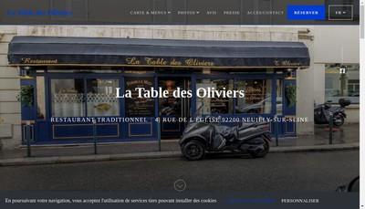 Site internet de La Table des Oliviers