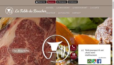 Site internet de La Table du Boucher