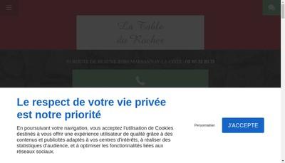 Site internet de La Table du Rocher