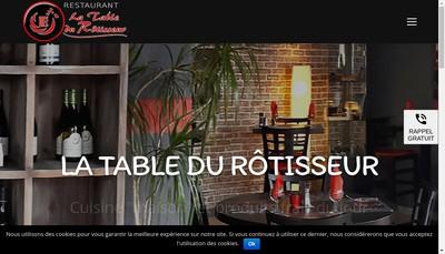 Site internet de La Table du Rotisseur