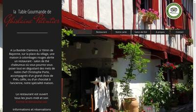 Site internet de La Table Gourmande de Ghislaine Pot Entier