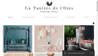 Site internet de La Taniere de l'Ours