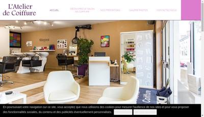 Site internet de L'Atelier de Coiffure
