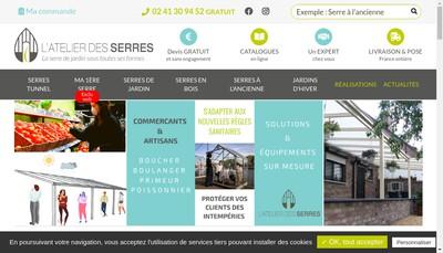 Site internet de L'Atelier des Serres