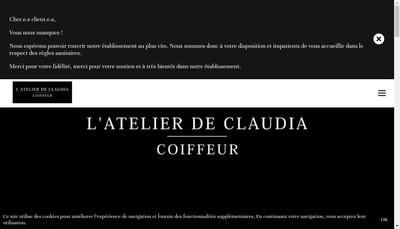 Site internet de L'Atelier de Claudia