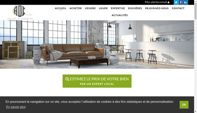 Site internet de L'Atelier de l'Immobilier By Kyoa