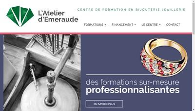 Site internet de L'Atelier d'Emeraude