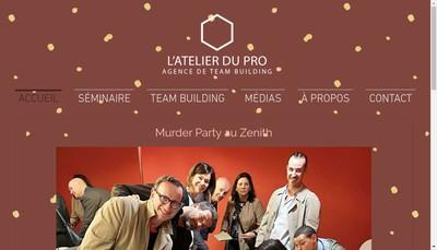 Site internet de L'Atelier du Pro