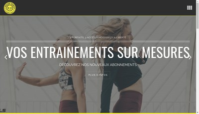 Site internet de L'Atelier Sportif