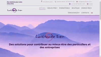 Site internet de Latitude Zen