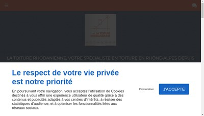 Site internet de La Toiture Rhodanienne