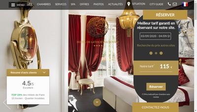 Site internet de Hotel de la Tour Maubourg