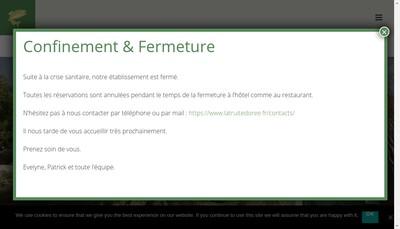 Site internet de La Truite Doree
