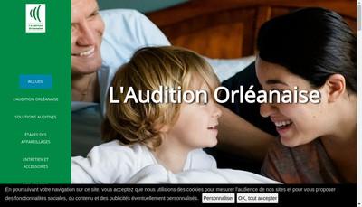 Site internet de L'Audition Orleanaise Loury Audition