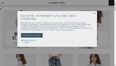 Site internet de Lauren Vidal Retail