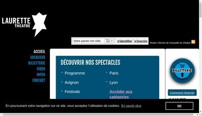 Site internet de Laurette Theatre