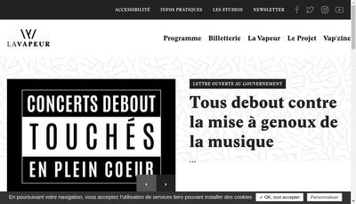 Site internet de La Vapeur