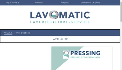 Site internet de Lavomatic